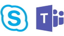 Logo de Skype et Teams