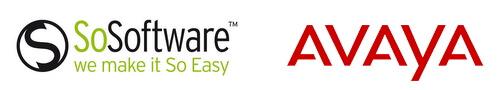 Logo de SoSoftware et Avaya